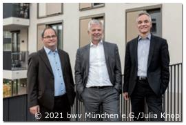 Der Vorstand: Klaus Hofmeister, Christian Berg und Axel Wirner (v. li.) kommen wöchentlich zusammen, besprechen die aktuellen Projekte, treffen Entscheidungen und stellen die Weichen.