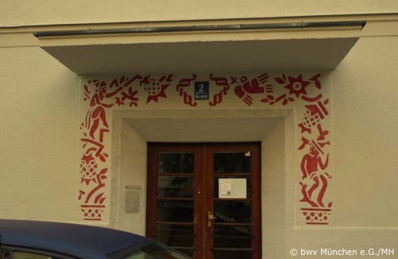 bwv-München, Rossinistr. 2, Eingangsportal
